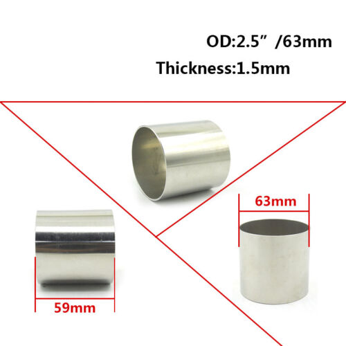 2.5/'/' 63mm OD Stainless Steel Weldable Exhaust Pipe Reducer Adapter Connector
