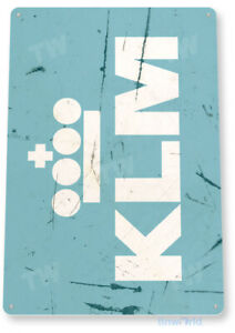 TIN-SIGN-KLM-Airlines-Retro-Commercial-Aviation-Art-Crew-Picture-Airplane-A926