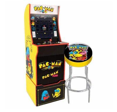 Arcade 1up Pac-Man Pacman New Monitor Riser Stool Light-up Marquee Arcade1up  | eBay