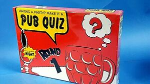 Details about New & Sealed Pub Quiz Game — Having a Party ? Make it a Pub  Quiz Night Round 1