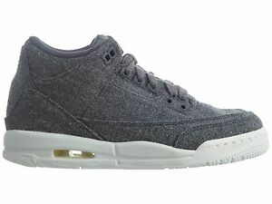 c435c860aaf952 Air Jordan 3 Retro Wool Gs Big Kids 861427-004 Dark Grey Shoes Youth ...