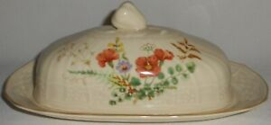 Mikasa-Fine-Ivory-MARGAUX-PATTERN-Two-Piece-Butter-Dish-MADE-IN-JAPAN
