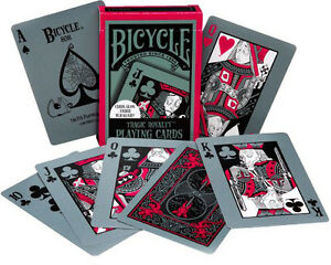 BICYCLE-TRAGIC-ROYALTY-PLAYING-CARDS-POKER-SIZE-GLOW-IN-DARK-UNDER-BLACKLIGHT