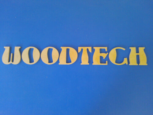 """WOODEN MDF LETTERS /& NUMBERS 8 SIZES /""""AUNT BERTHA/"""" MAKE YOUR OWN WORDS"""