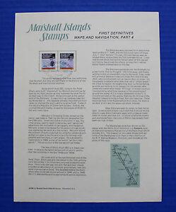 Marshall Islands (107, 108) 1986 Maps & Navigation Part 4 Souvenir Page
