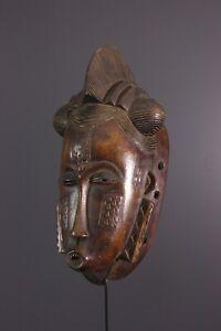 MASQUE-BAOULE-AFRICAN-ART-AFRICAIN-PRIMITIF-AFRICANA-AFRIKANISCHE-KUNST