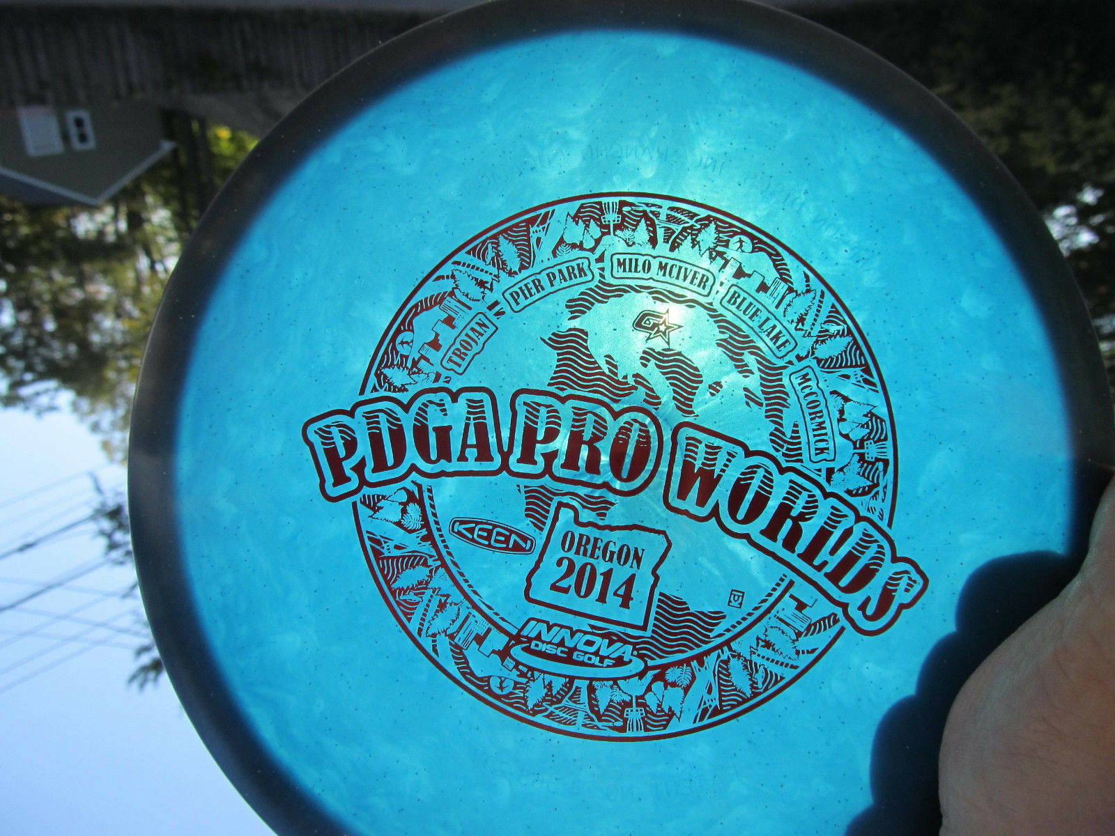 Innova Gstar Roc Sweet 180g Rare 2014 PDGA Worlds stamp ROT Reflective stamp Worlds Disc Golf 92463b