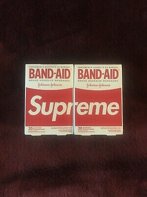 Supreme SS19 Band Aid **2 Indivdual Band Aids** Ready To Ship Rare Sold Out