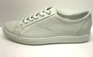 Ecco-Size-US-12-EUR-43-White-Leather-Sneakers-New-Womens-Shoes