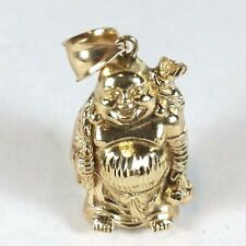 Unique 10K Yellow Gold 3D Heavy Buddha Charm Pendant 24.5 Grams - Nice!