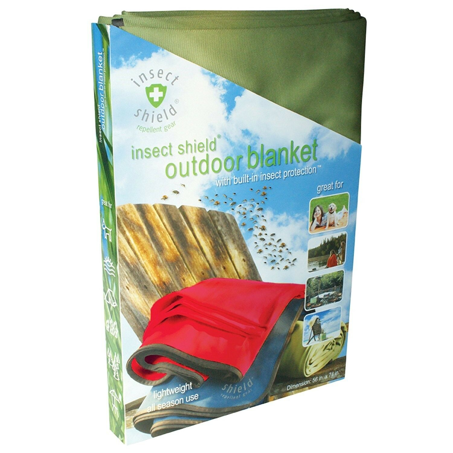 Insect Shield Blanket - bluee   clearance