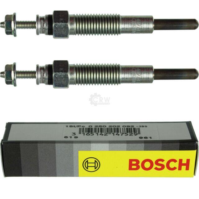 2X Original Bosch Bujías de Incandescencia 0 250 202 092