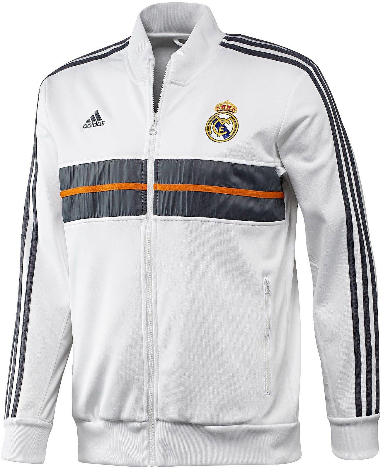Adidas Real Madrid Himno Chaqueta blancooo Oscuro