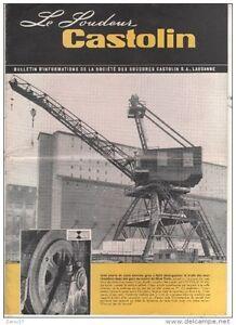 BULLETIN-Societe-SOUDURE-CASTOLIN-1954-INDUSTRIE-LOURDE-LAUSANNE-SOUDEUR-GRUE