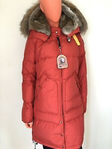 uk availability 3370e f286f Details zu PARAJUMPERS Long Bear Daunenmantel Echtfell Rot Gr. L *LP: 900  EU* NEU