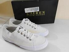Ralph Lauren Women's Jolie Sneakers Canvas White NIB Size 10 B MSRP $69