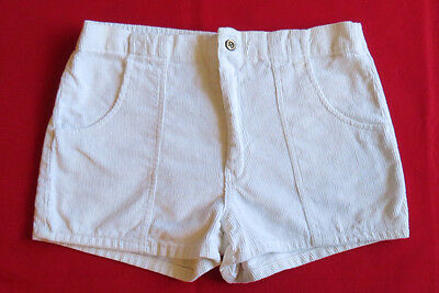 VINTAGE SHORTS 70's California Rainbow CORDUROY Cords SURF Skate Board IVORY 34
