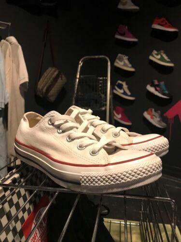 blancas All Uk Star Tamaño 4 lona Lace Top Con Zapatillas Off Converse de Low Ex 4Bqz4w