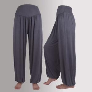 55758d986b Women Elastic Loose Casual Modal Cotton Soft Yoga Sport Dance Full ...