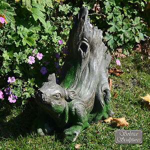 Merveilleux Image Is Loading UNUSUAL 034 DRIFTWOOD SQUIRREL 034 GARDEN ORNAMENT  WEATHERED