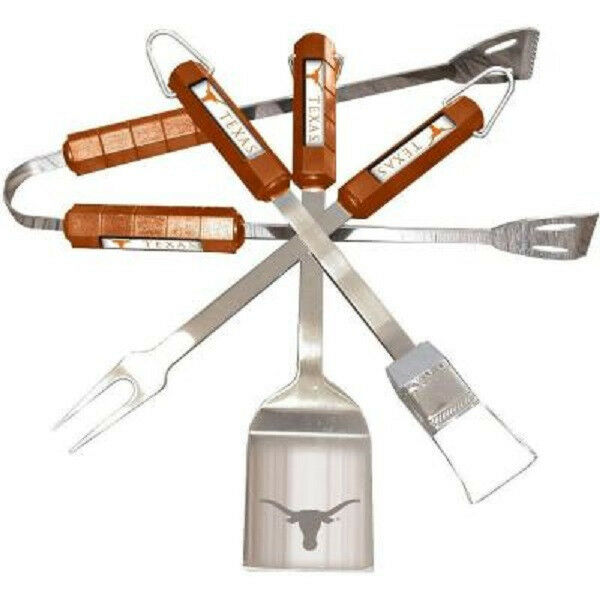 Texas Longhorns University NCAA College Gift Grill Tailgate Party BBQ Tool Set