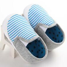 Baby Boys Girls Infant kid Crib Shoes Soft Sole Slip-on Canvas Shoes 0-18M 11@