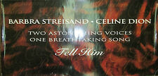 BARBRA STREISAND & CELINE DION Tell Him, orig Columbia promo poster, 1997, VG+
