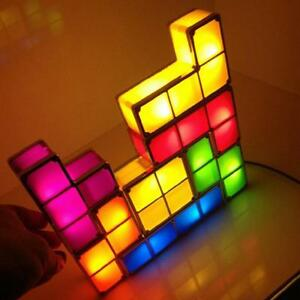 Diy Tetris Lights Constructible Retro Game Stackable Led Night Light Desk Lamps Ebay