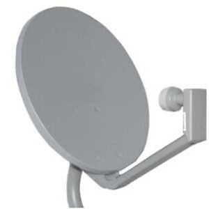 New-Directv-18-034-Satellite-Dish-Full-Kit-w-Dual-LNBF-Antenna-Pipe-and-Cable