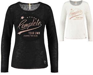 Key-Largo-Damen-T-Shirt-Pullover-Rundhals-Langarm-Oberteil-OWN-WLS00234-round