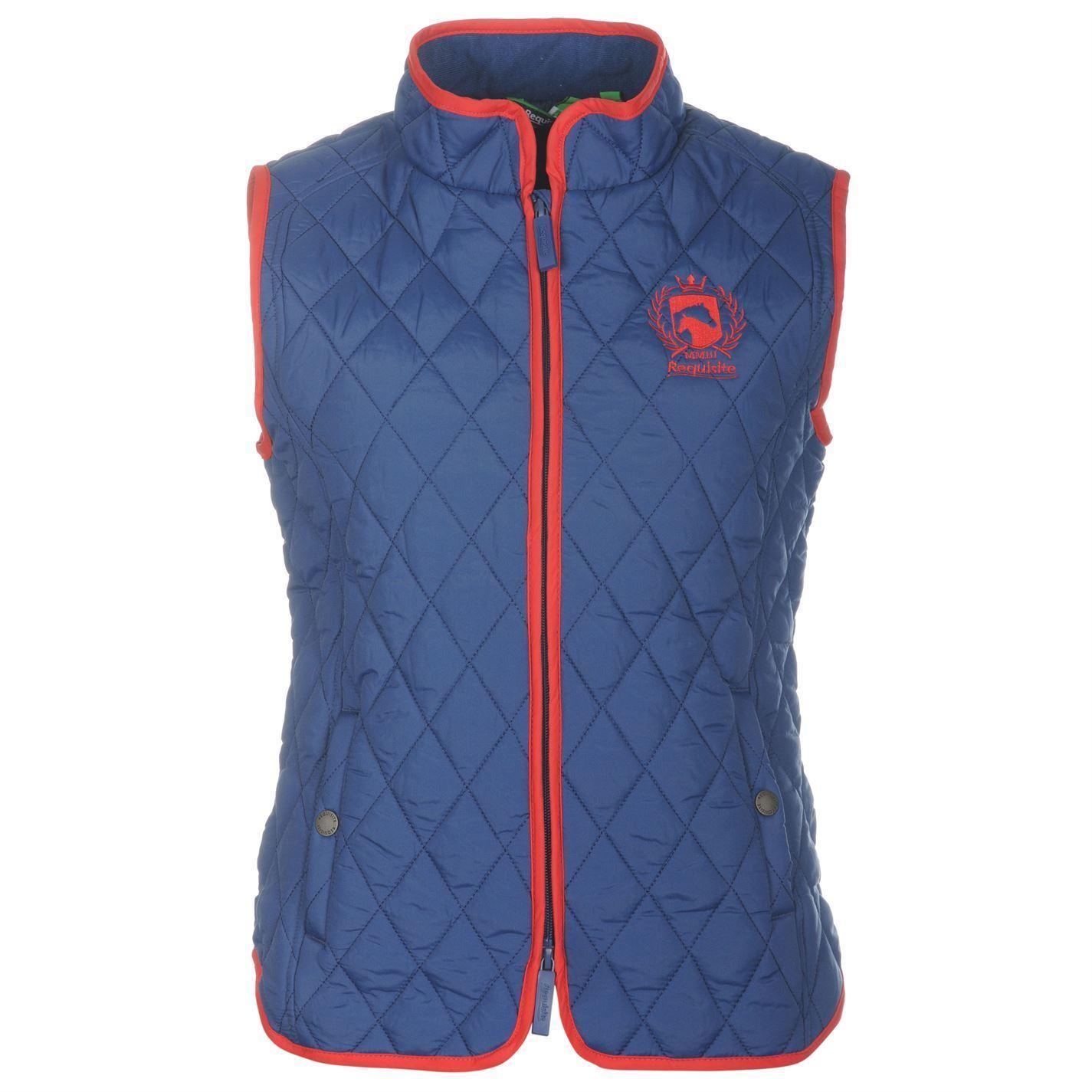 Requisite Reiten Weste DaSie Marineblau Reiter Jacke Weste Oberbekleidung