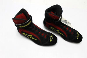 ALPINESTARS F1-R Racing SHOES Mens High Top Red   Black ISO FIA Race ... 7dba05f704da