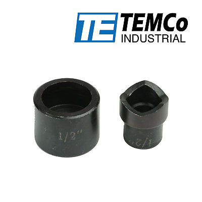 TEMCo THA023 1//2 Conduit Punch and Die For Hydraulic Knock Out Driver