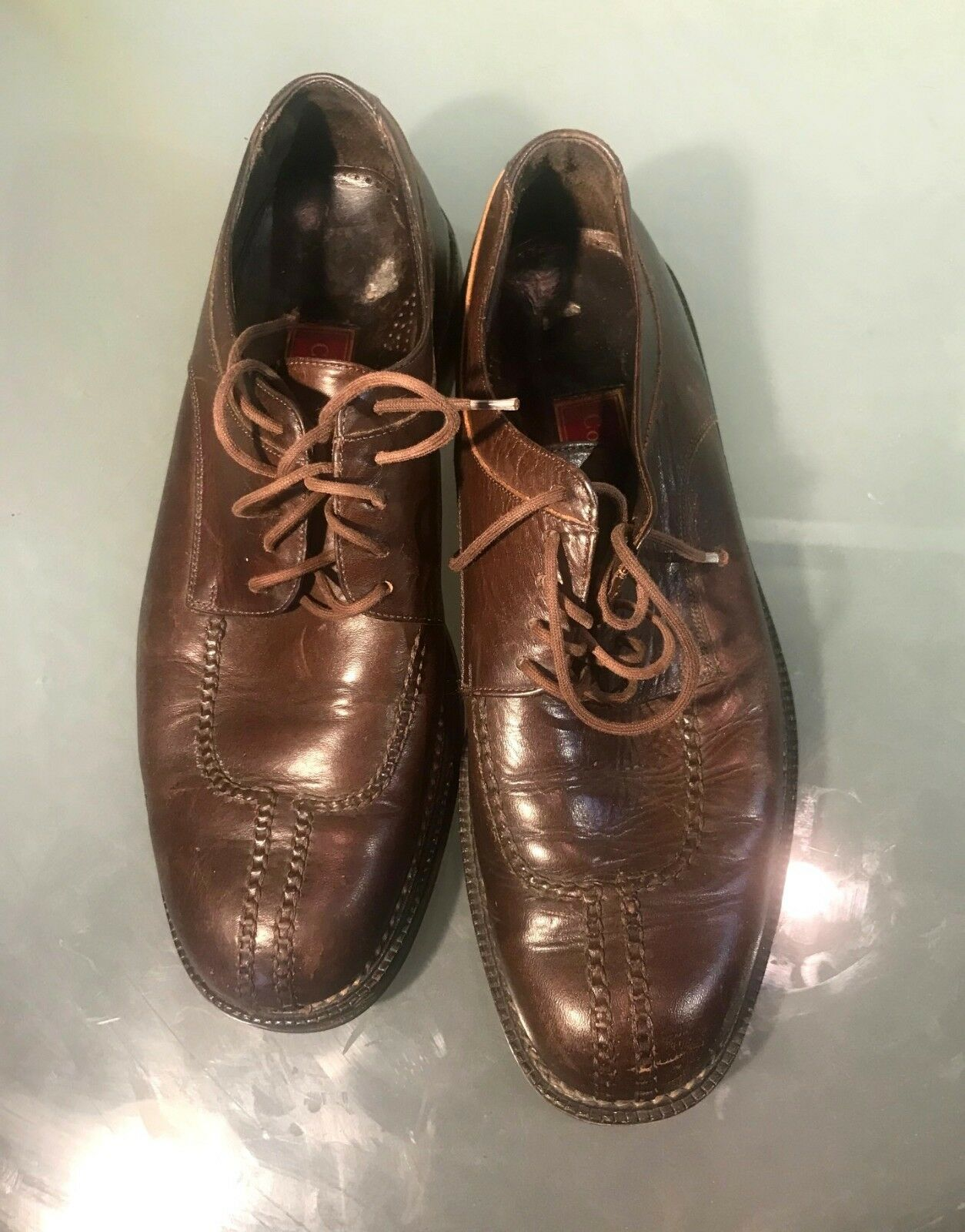 Cole Haan Country Men's Brown Leather Split Toe Derby shoes - Size 9 D