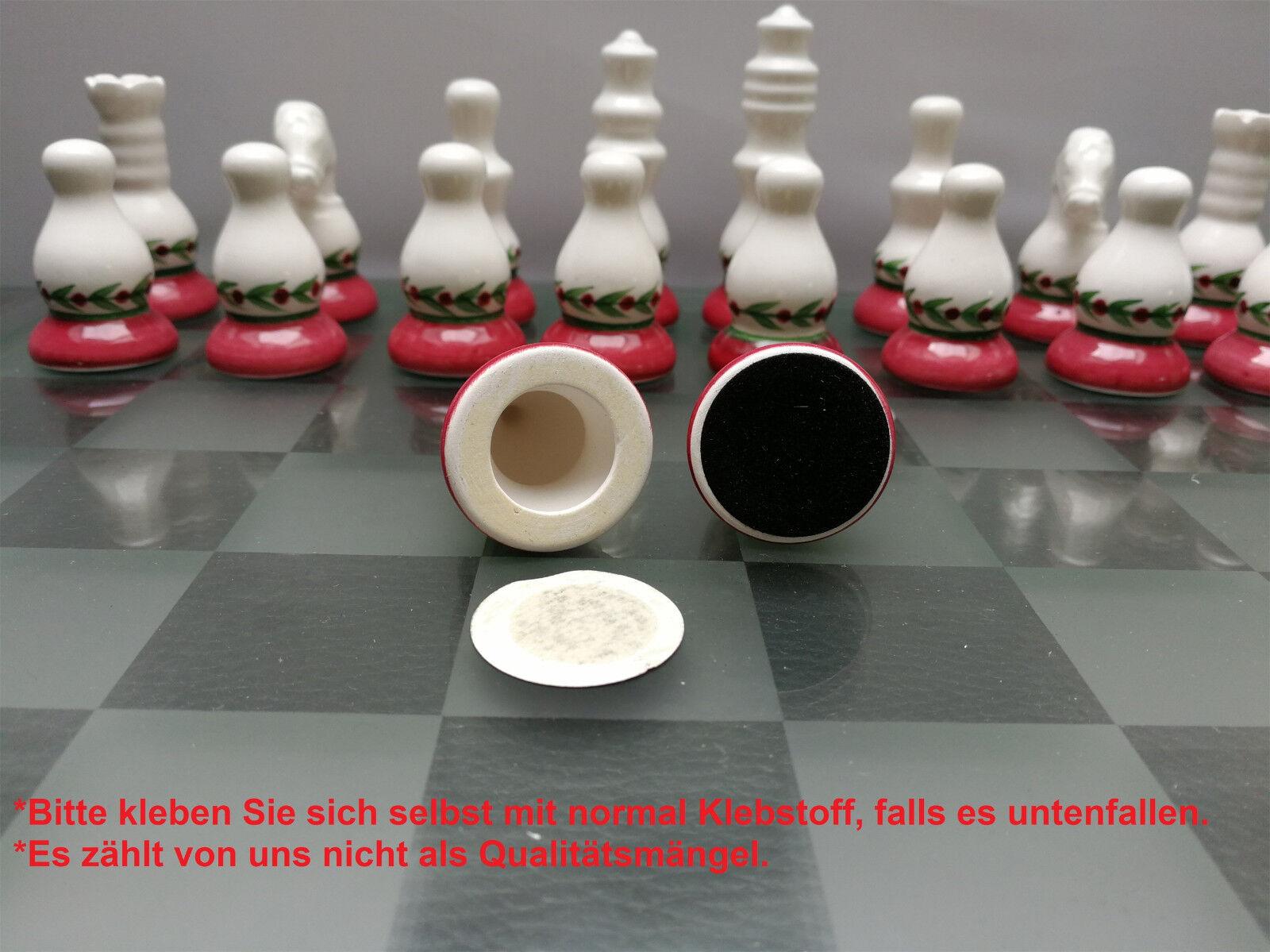 5 X Jeu d'échecs en en en céramique et verre, échec Conseil figurines 35 x 35 cm 3164ff