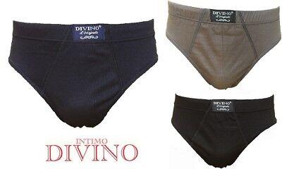 6 Slip Uomo Divino Cotone 100/% Bianco o Colorato