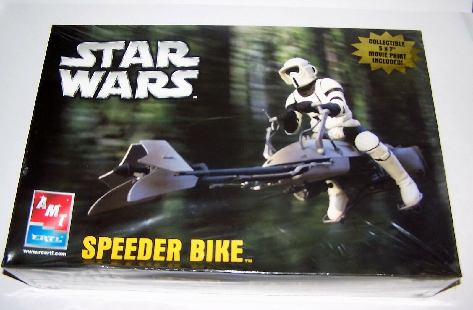 Star Wars Speeder Bike Model Kit 5x7 Movie Print Included NIB Sealed 2005