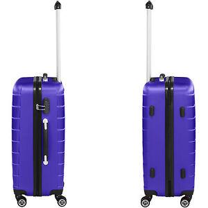 41a88b5853 Set de 3 valises voyage coque ABS léger rigide bagages valise trolley
