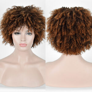 cheap Long Kinky Curly curls Brown blonde Afro Wig African American ... 976f85890