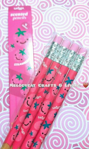POPULAR STRAWBERRY SCENT SMIGGLE SCENTED PENCILS 4 PENCILS