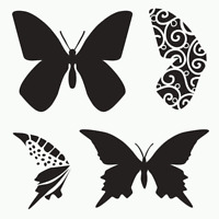 Butterfly Stencil Butterflies Template Wings Art Stencils Templates Craft By Tcw