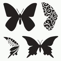 Butterfly Stencil Butterflies Template Wings Art Stencils Templates Craft By Tcw