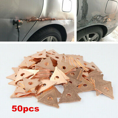 50XTriangle Dent Pulling Ring Washer Car Spot Welder Soldering Panel Puller Type