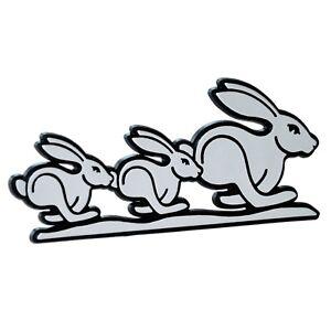 Bunny 3D Relief Schild Häschen Drei Hasen Rabbit Triple 10 cm HR Art. 4775