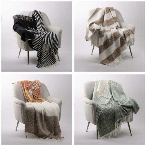 Glitzhome 60x50/'/' Woven Jacquard Throw Blanket Warm Comfort Couch Sofa Cover New