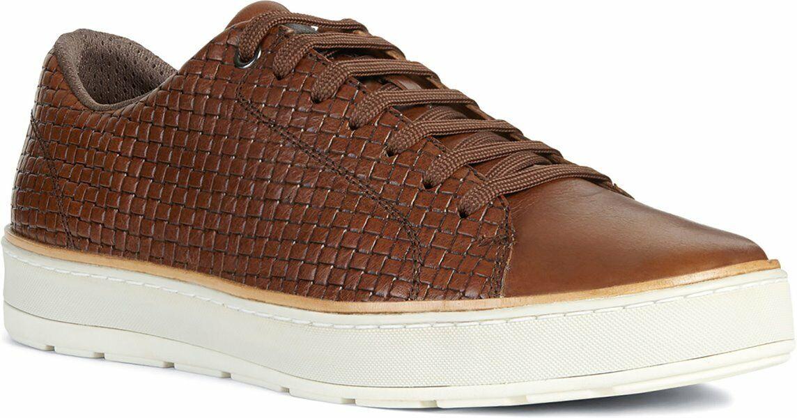 Geox Men's Ariam C Brown Leather Sneaker U925QC_06R1J_C6003