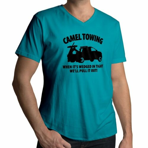 Camel Towing Pull Wedgie Dirty Adult Joke Humorous Funny Mens Tee V-Neck T-Shirt