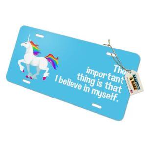 Unicorn-I-Believe-in-Myself-Metal-Vanity-Tag-License-Plate