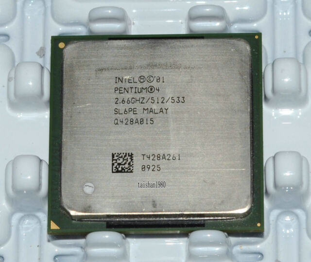 Intel Pentium 4 2.66GHz 533MHz 512KB Socket 478 CPU Processor SL6PE