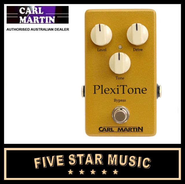 CARL MARTIN PLEXITONE SINGLE CHANNEL OVERDRIVE PEDAL MARSHALL PLEXI TONE - NEW